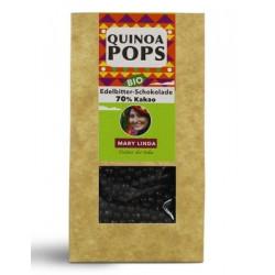 Bio Quinoa Pops in Edelbitter-Schokolade 75g Mary Linda