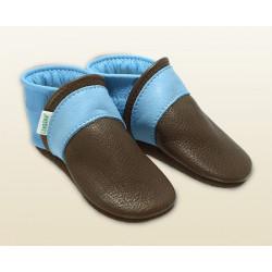 Babyschuhe -kastanie/himmelblau