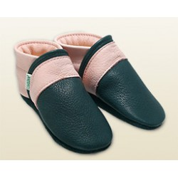 Babyschuhe -tiefblau/rosa Panther