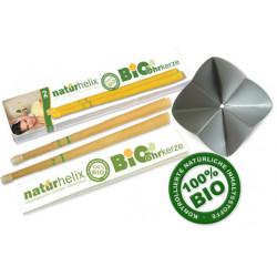 Ohrkerze Naturhelix mit Filter mit Bio Inhaltstoffeaten
