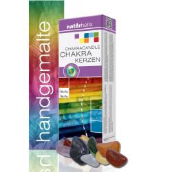 7 Chakra Kerzen Naturhelix Mineralsteine