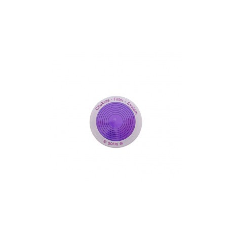 COLOR ENERGY DISC VIOLETT-WEISS MIT BUCH